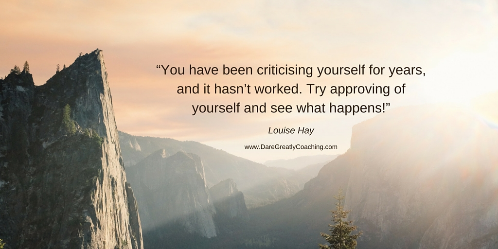 You have been criticising yourself | Dare Greatly Coaching