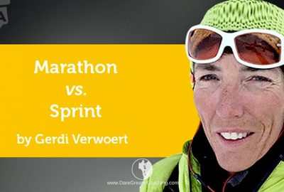 Dare Greatly Coaching | Marathon vs Sprint