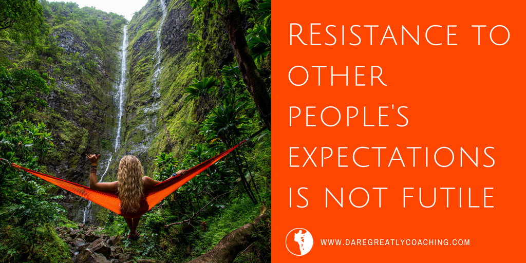 Dare Greatly Coaching | Resistance is not futile