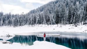 Wintery lake